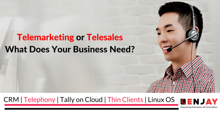 what is the difference between telemarketing and telesales