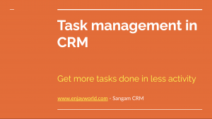 CRM Task Management Solution