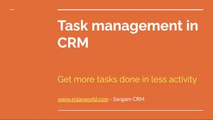 CRM Task Management Solution